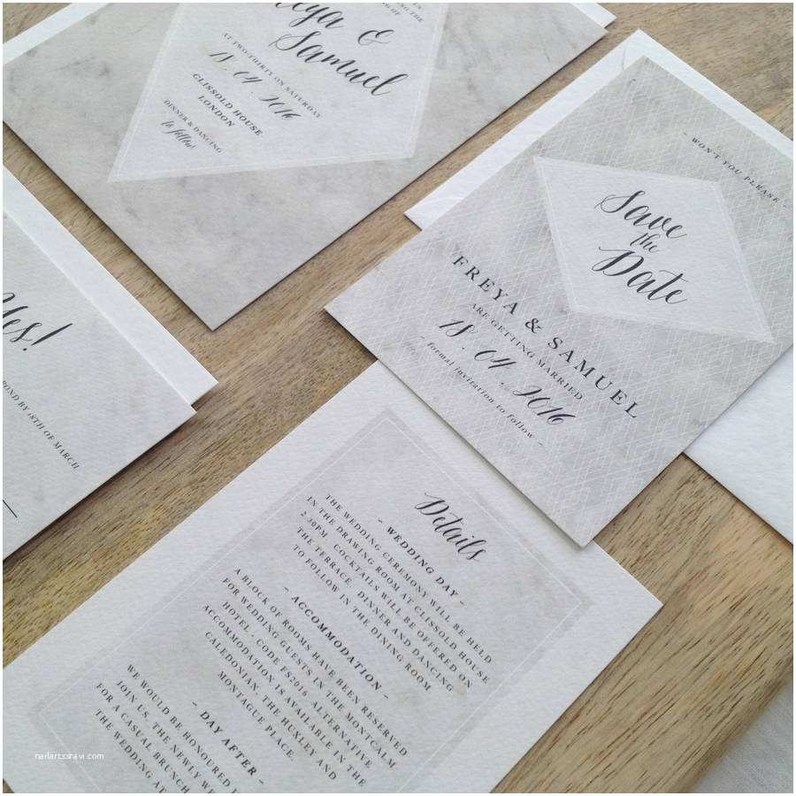 Marble Wedding Invitations Marble Wedding Invitations by Kismet Weddings