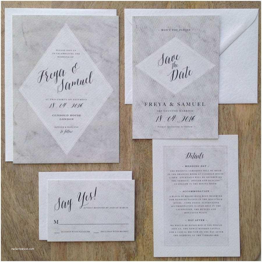 Marble Wedding Invitations Marble Wedding Invitations By Kismet