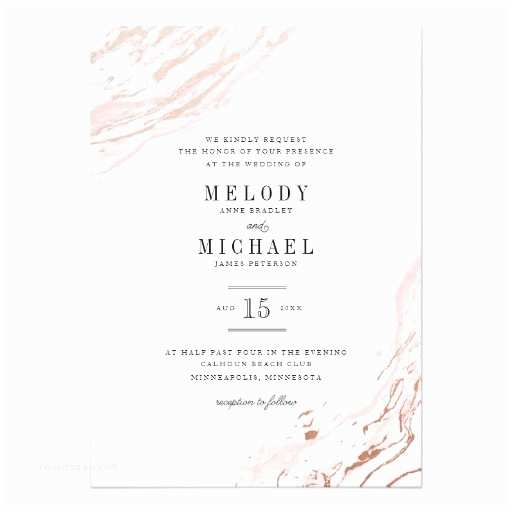 Marble Wedding Invitations Pink Marble Modern Elegant Wedding Invitation Ladyprints