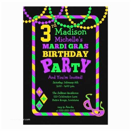 Mardi Gras Birthday Invitations 17 Best Images About 3rd Birthday Party Invitations