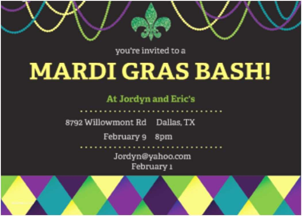 Mardi Gras Birthday Invitations Mardi Gras Party Invitations