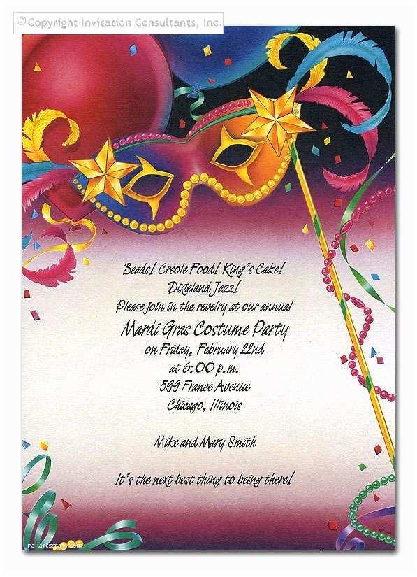 Mardi Gras Birthday Invitations Mardi Gras Party
