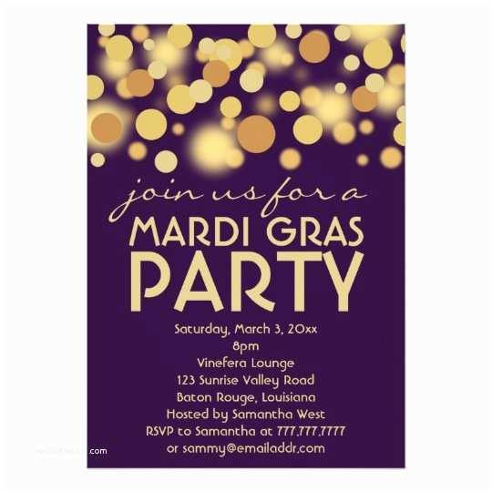 Mardi Gras Birthday  Purple Gold Mardi Gras Party