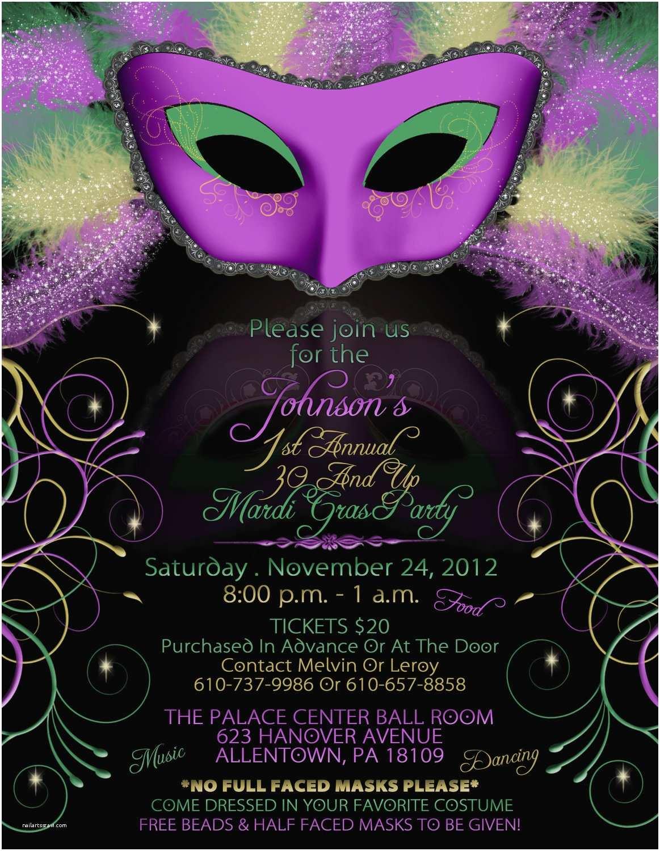 Mardi Gras Party Invitations Inspiring Mardi Gras and Masquerade Invitation Cards