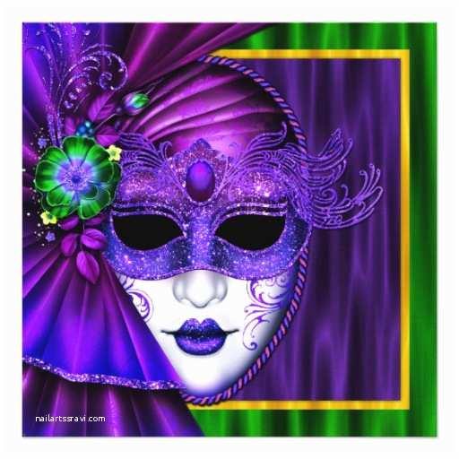 Mardi Gras Wedding Invitations Elegant Venetian Mask Mardi Gras Wedding Invitation