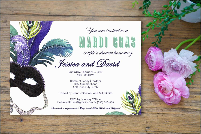 Mardi Gras Wedding Invitations Mardi Gras Wedding Invitations