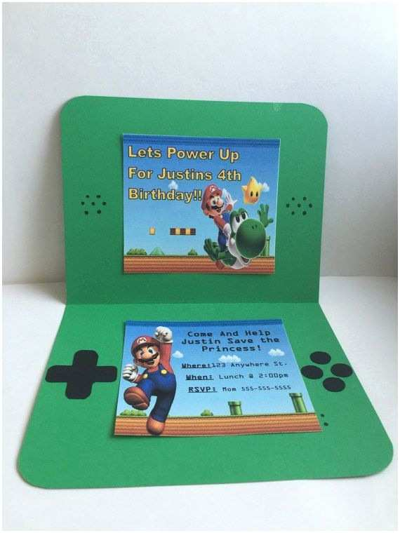 Mario Birthday Invitations 54 Best Super Mario Images On Pinterest