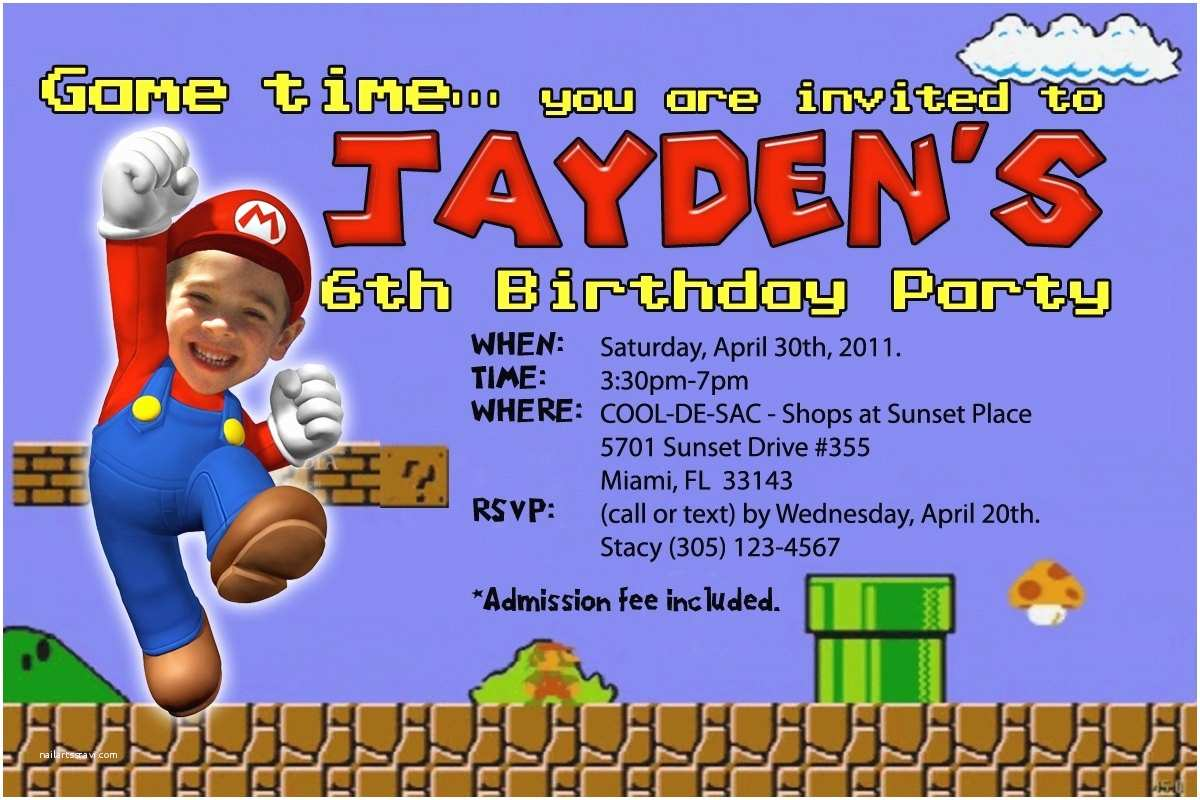Mario Birthday Invitations Mario Birthday Invitations Template Resume Builder