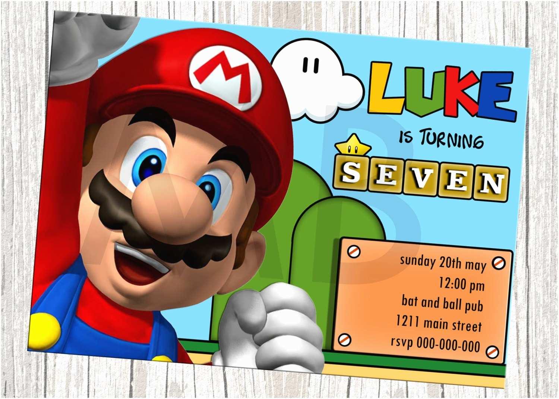 Mario Birthday Invitations Super Mario Birthday Invitations – Bagvania Free Printable