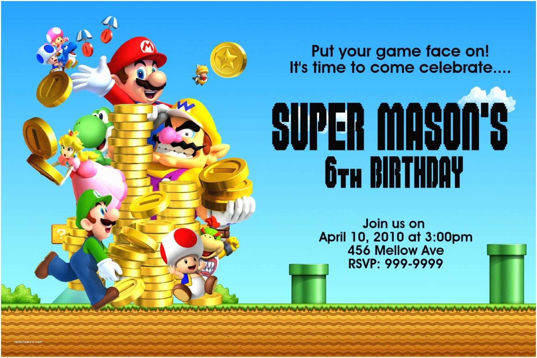 Mario Birthday Invitations Super Mario Bros Birthday Invitations