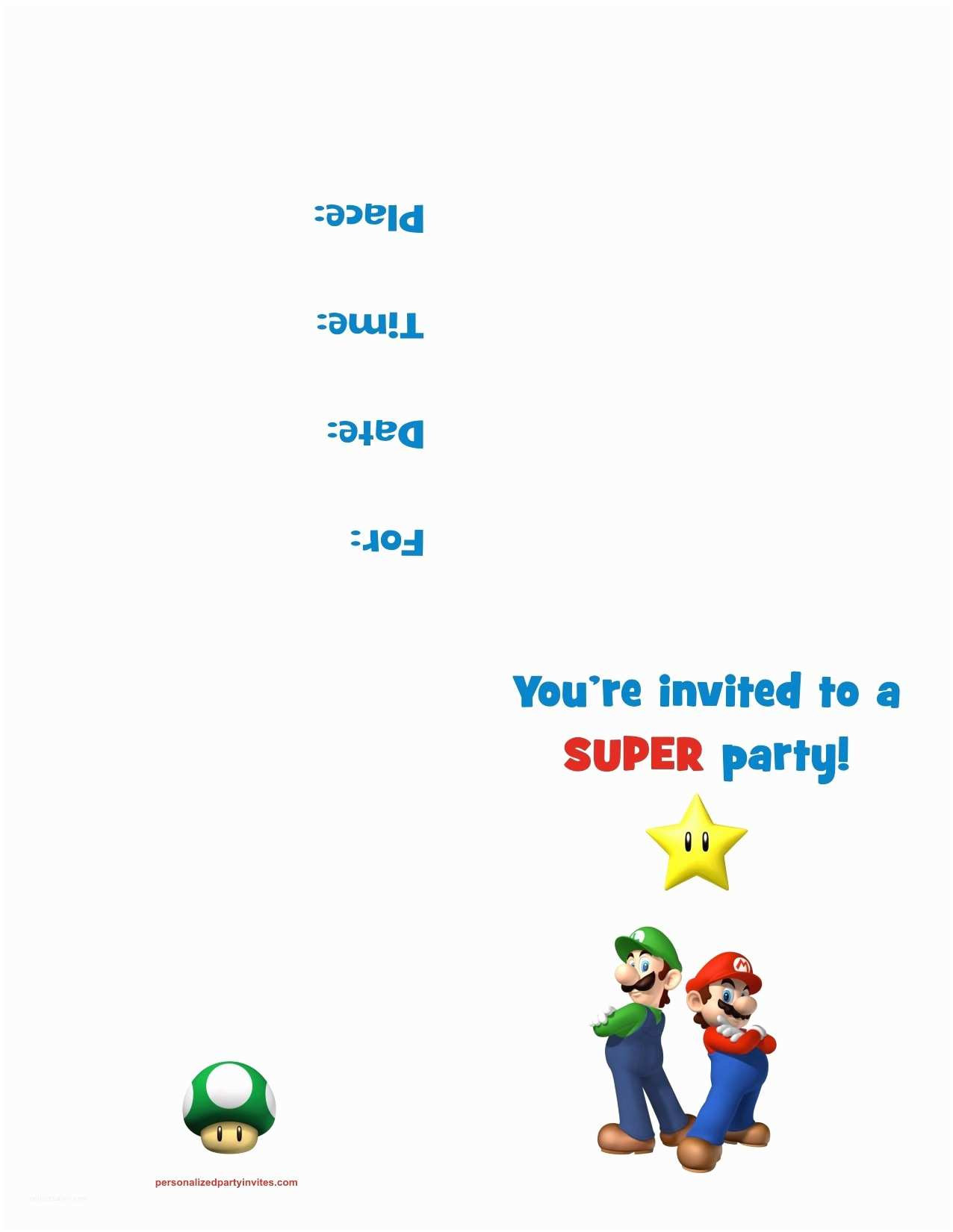 Mario Birthday Invitations Super Mario Bros Free Printable Birthday Party Invitation