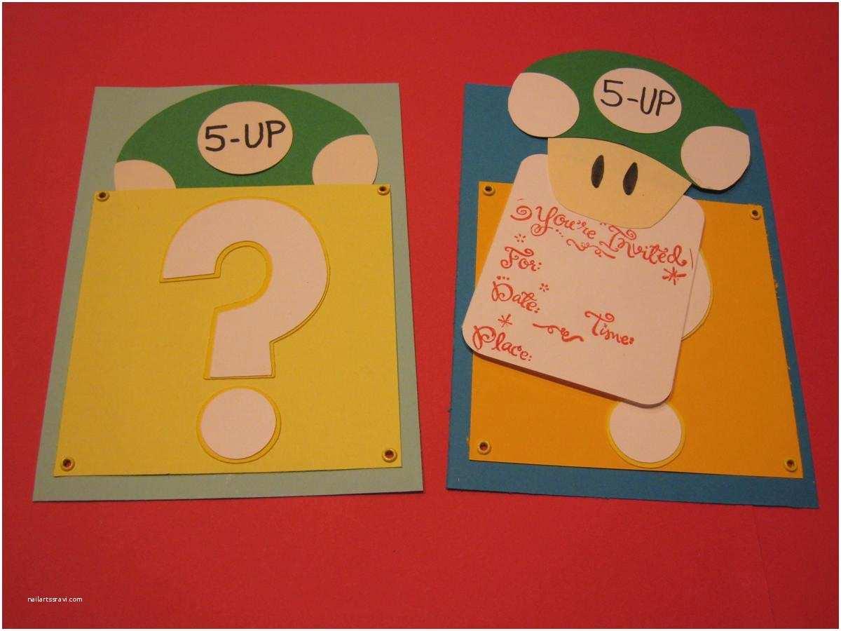 Mario Birthday Invitations Super Bros Free Party Printables