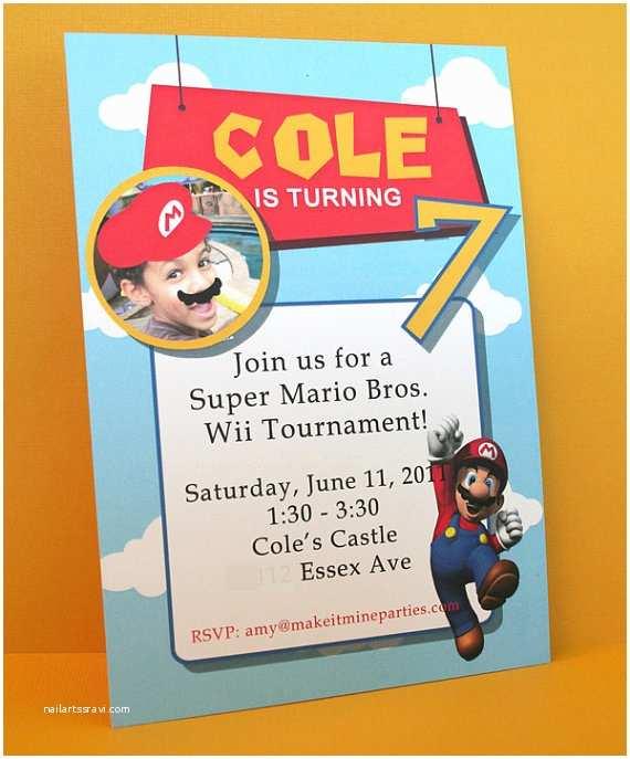 Mario Birthday Invitations Super Mario Party Real Parties I Ve Styled