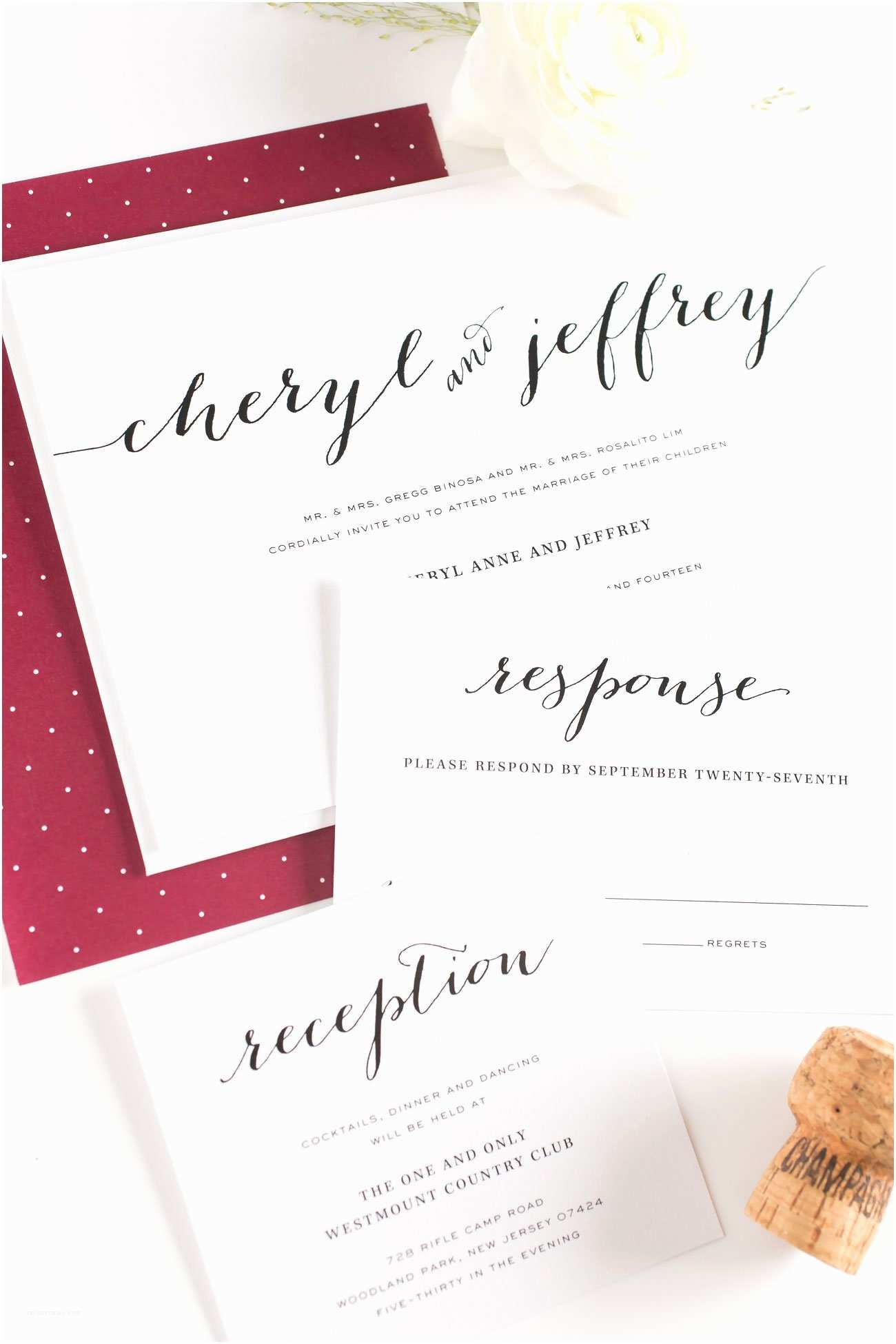 Maroon Wedding Invitations Burgundy Wedding Invitations – Wedding Invitations