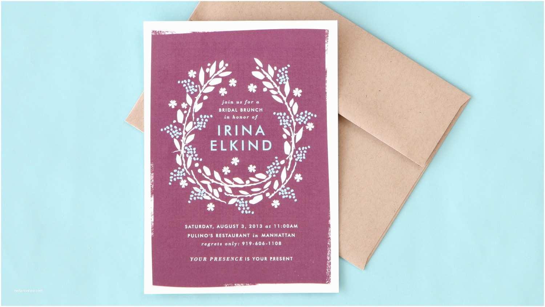 Martha Stewart Wedding Invitations Bridal Shower Invitation Wording Made