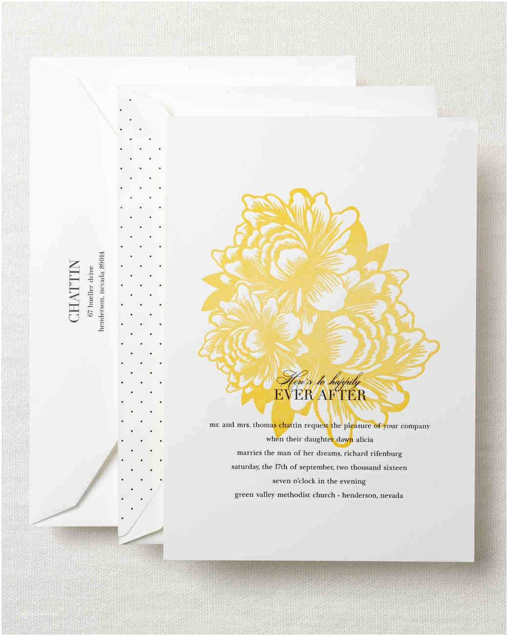 Martha Stewart Wedding Invitations Gorgeous Floral Wedding Invitations