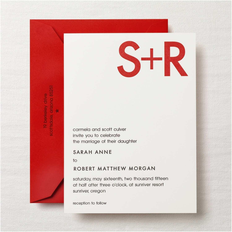 Martha Stewart Wedding Invitations Modern Invitation 26 Sq
