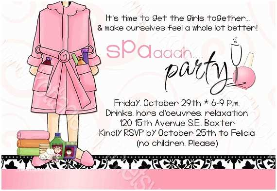 Mary Kay Party Invitations Items Similar to Spa Party Printable Invitation for