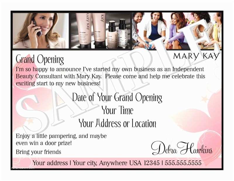 Mary Kay Party Invitations Mary Kay Business Debut Invitation Mary Kay