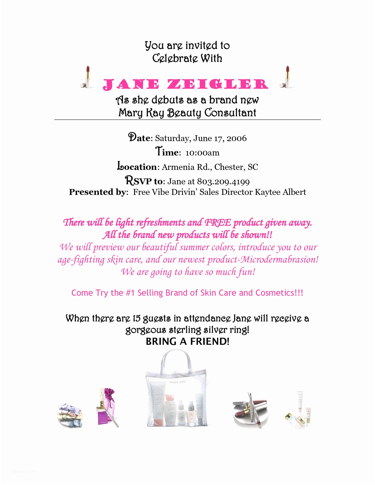 Mary Kay Party Invitations Mary Kay Debut Party Invitations Mary Kay