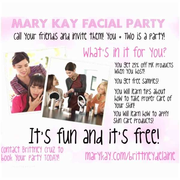 Mary Kay Party Invitations Mary Kay Facial Party Invitations