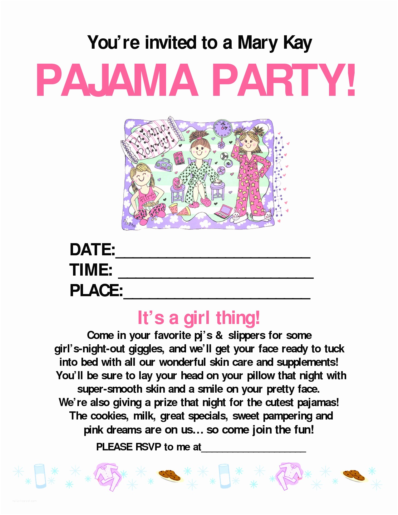 Mary Kay Party Invitations Mary Kay Party Flyer Templates