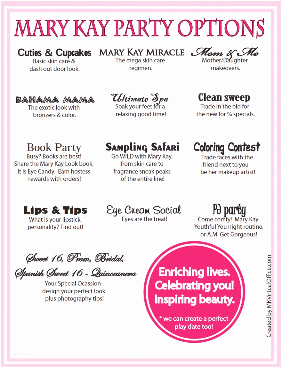 Mary Kay Party Invitations Mary Kay Party Invitations