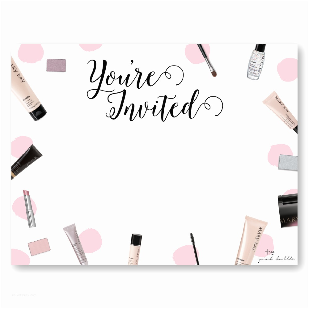 Mary Kay Party Invitations Mary Kay Party Invite