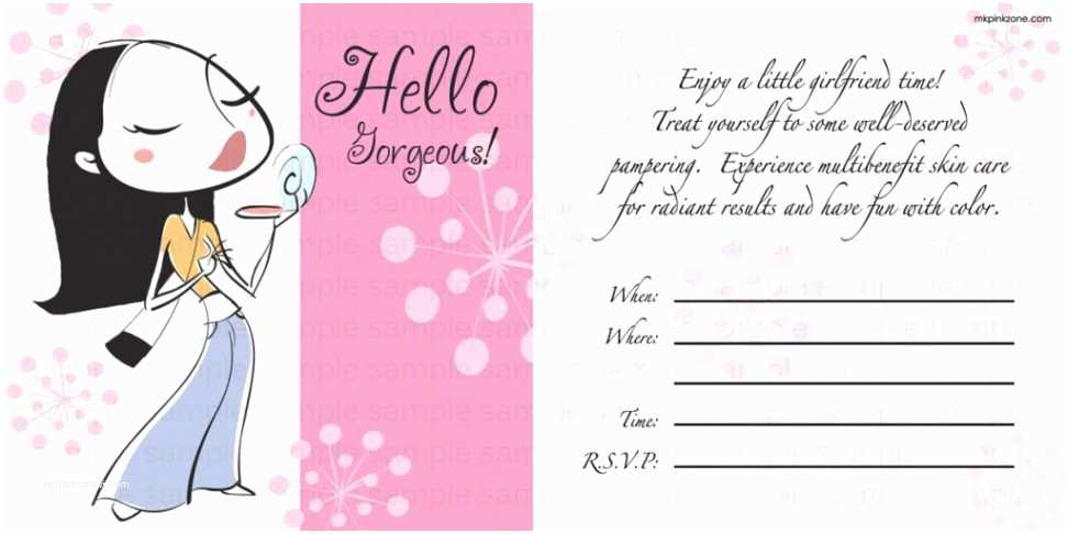 Mary Kay Party Invitations Party Invitation Templates Mary Kay Party Invitations Free