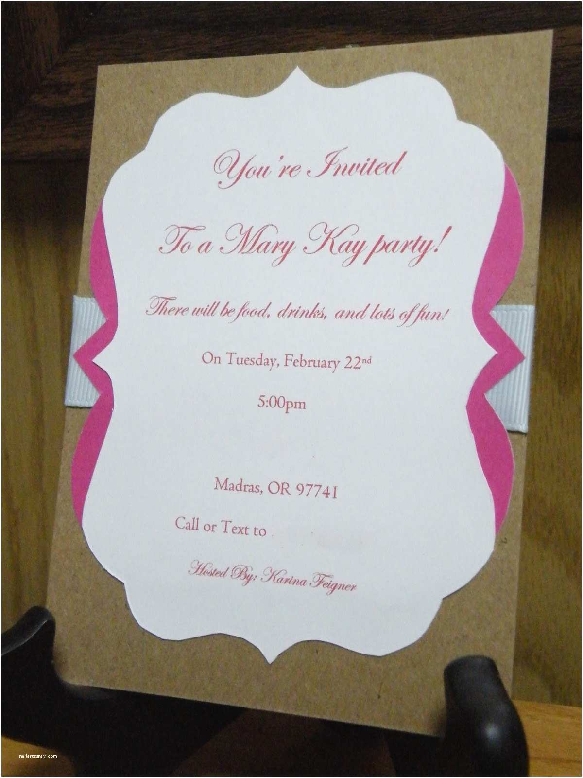 Mary Kay Party Invitations the Crafty Housewife Mary Kay Party Invite