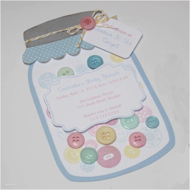 Mason Jar Baby Shower Invitations Mason Jar Invitation Baby Shower buttons Invitation
