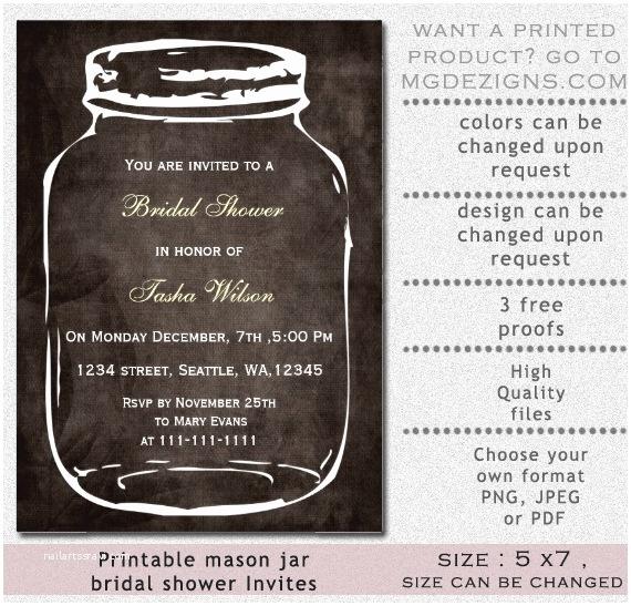 Mason Jar Bridal Shower Invitations Luxury Wedding Shower Invitations Mason Jar Ideas
