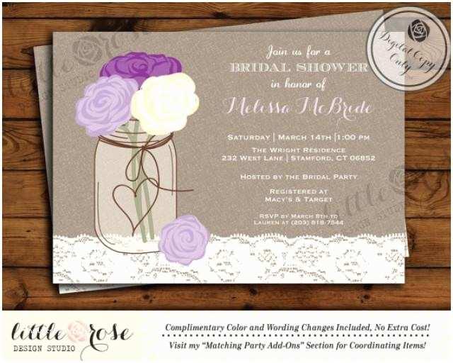 Mason Jar Bridal Shower Invitations Mason Jar Bridal Shower Invitation Bridal Shower Invite