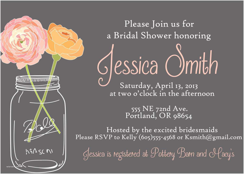 Mason Jar Bridal Shower Invitations Mason Jar Wedding Invitations Invitation with Nice Design