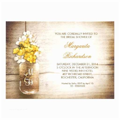 Mason Jar Bridal Shower Invitations Rustic Mason Jar Bridal Shower Invitations