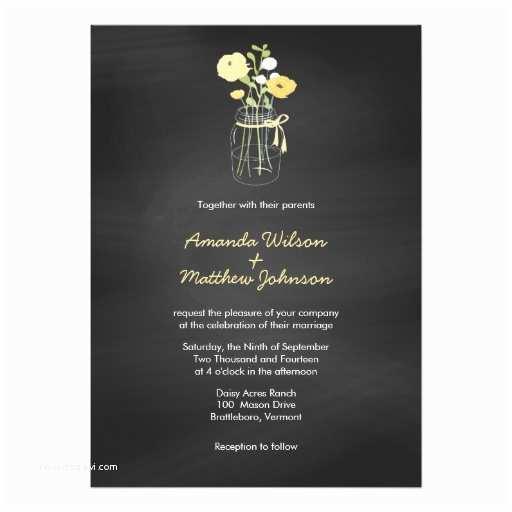 Mason Jar Wedding Invitations Chalkboard Mason Jar Wedding Invitations