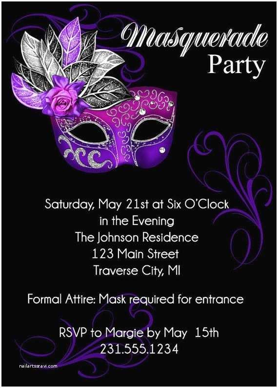 Masquerade Party Invitations Masquerade Party Invitation Mardi Gras Party Invitation