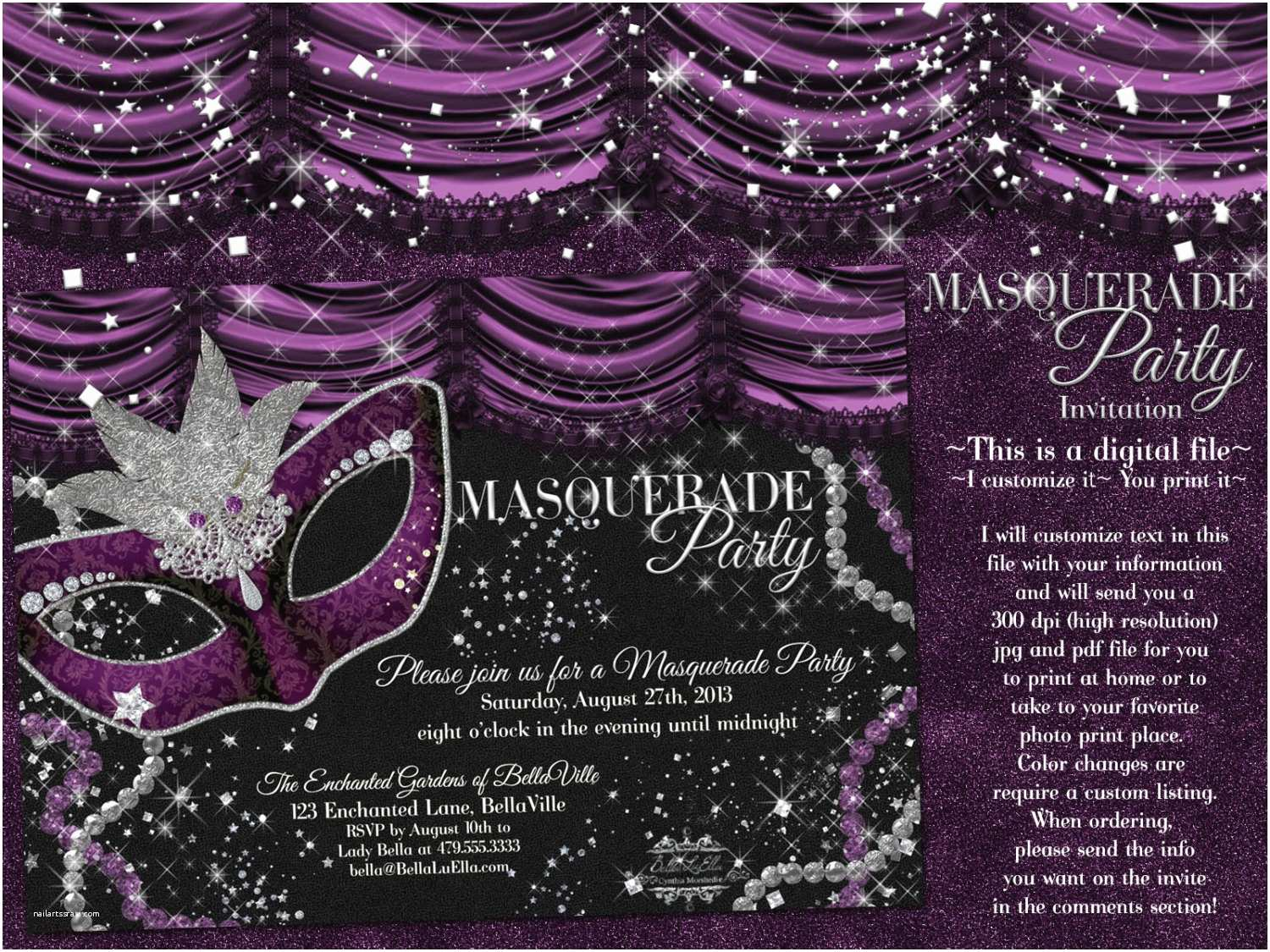 masquerade party invitation mardi gras