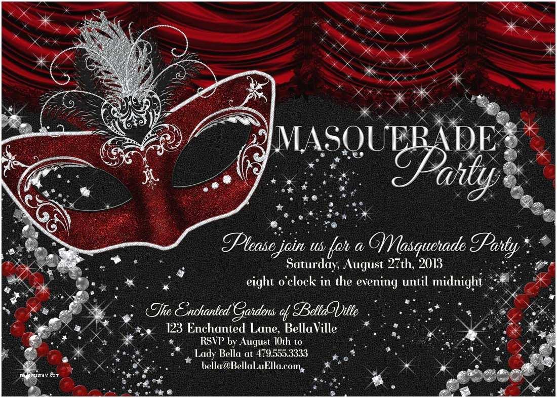 Masquerade Party Invitations Masquerade Party Invitation Mardi Gras Party Party