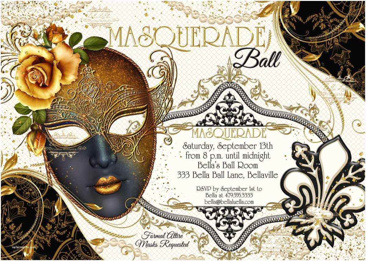 Masquerade Party Invitations Masquerade Party Invitation Masquerade Party Mardi Gras