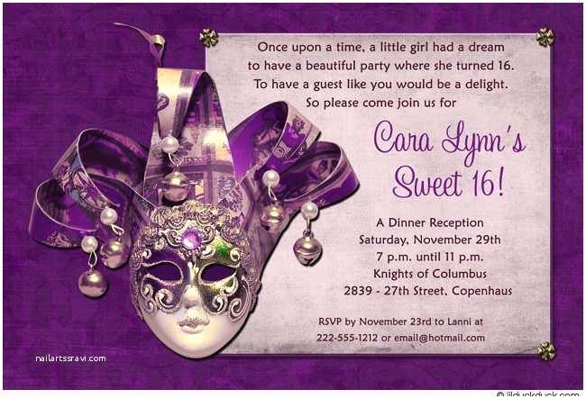 Masquerade Party Invitations Inspiring Mardi Gras And