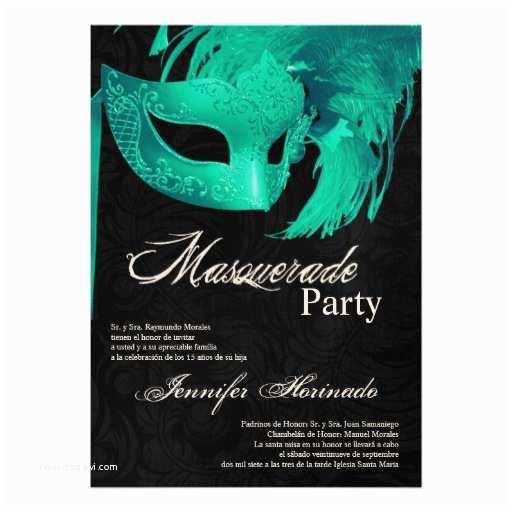 Masquerade Quinceanera Invitations 5x7 Masquerade Quinceanera Birthday Invitation