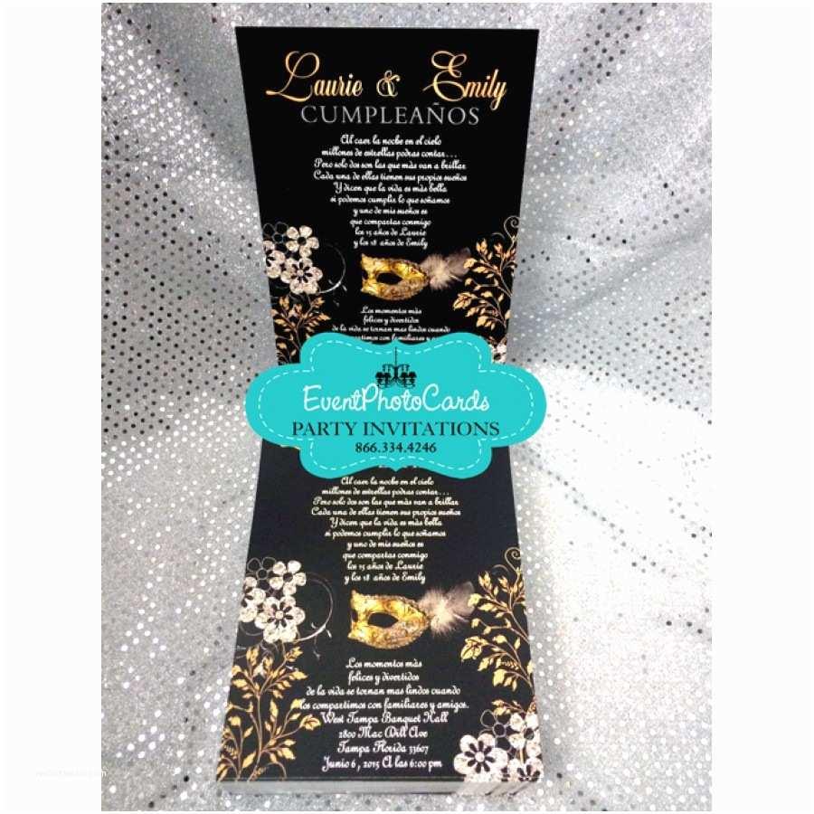 Masquerade Quinceanera Invitations Aqua Quinceanera Masquerade Invitations Sweet 16
