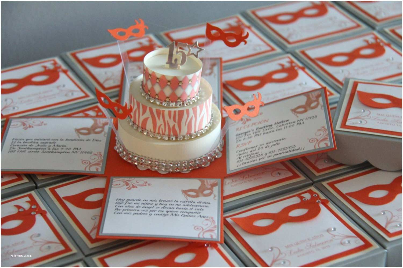 Masquerade Quinceanera Invitations Masquerade theme Exploding Box Invitations In by Jinkyscrafts