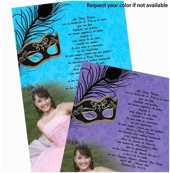 Masquerade Quinceanera Invitations Quinceanera Masquerade Invitations Template