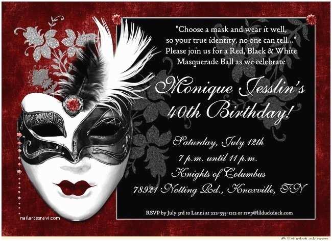 Masquerade Wedding Invitations Dramatic Mask Birthday Invitation Masquerade Ball Lovely