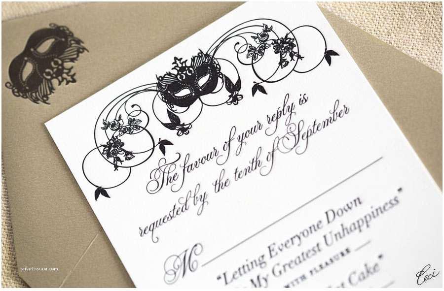 Masquerade Wedding Invitations formidable Masquerade Wedding Invitations