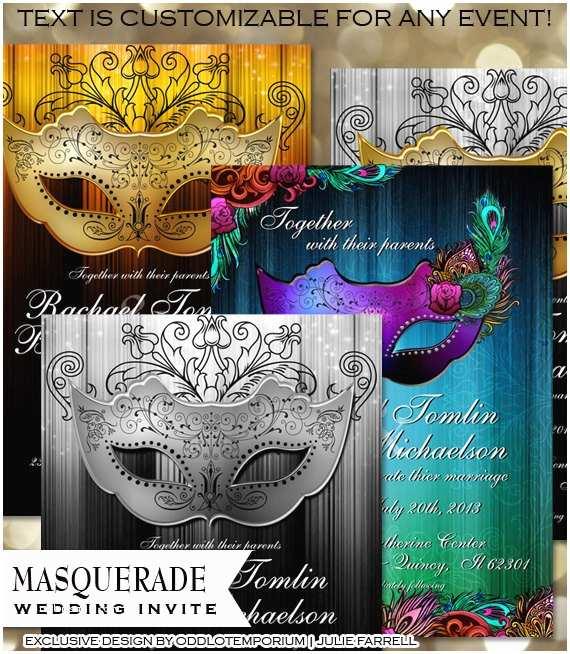 Masquerade Wedding Invitations Masquerade Wedding Invitation – Diy Digital Printable