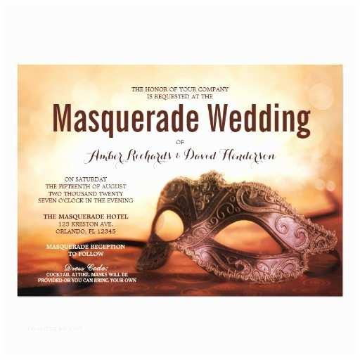 Masquerade Wedding Invitations Masquerade Wedding Invitation with Mardi Gras Mask