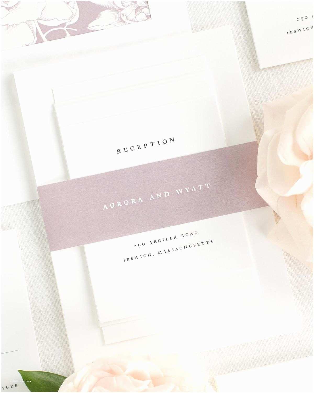 Mauve Wedding Invitations Aurora Wedding Invitations Wedding Invitations by Shine